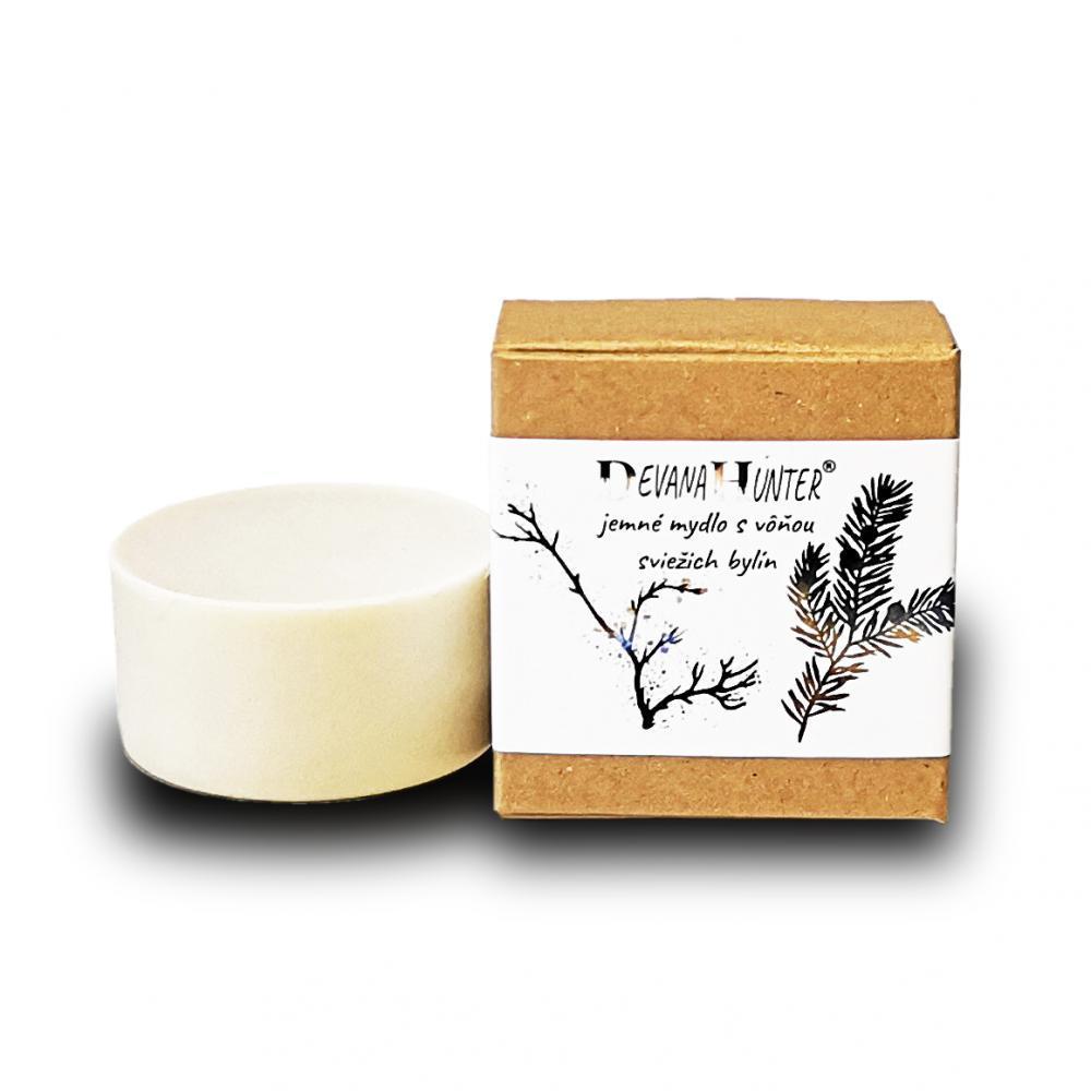 Jemné mydlo s vôňou sviežich bylín